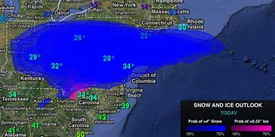 Us Snow Cover Map Weather Com Globalinterco - Us snow coverage map