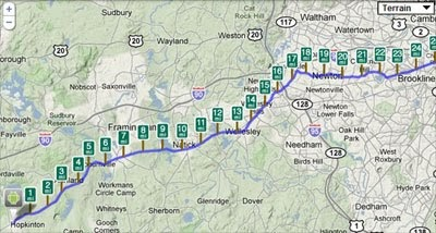 Maps Mania Iphone Vs Android In The Boston Marathon