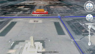screen shot of marathon route