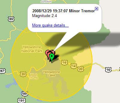 Maps Mania Yellowstone Earthquake Maps