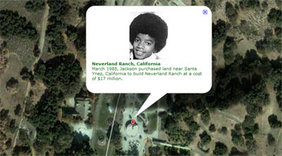 Maps Mania: Michael Jackson Memorial Map on jackson neverland map, michael jackson ranch map, hollister ranch map, brooklyn navy yard map, las vegas map, corriganville movie ranch map, never and ranch map, reagan library map, hearst castle map, steeplechase park map, mandalay bay events center map, baltimore aquarium map, old chicago map, los angeles map,