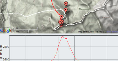 Climbing the Alps with Google Maps
