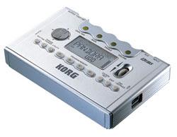 Vision del multiefectos portátil para guitarra de KORG: PANDORA PX5D, donde se aprecia que es muy pequeño