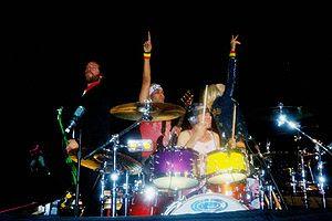 Foto del grupo durante un concierto