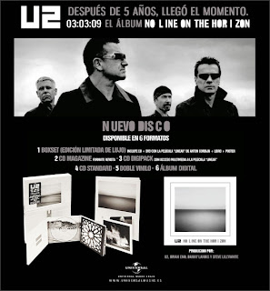 Nota promocional de No Line On The Horizon, u2