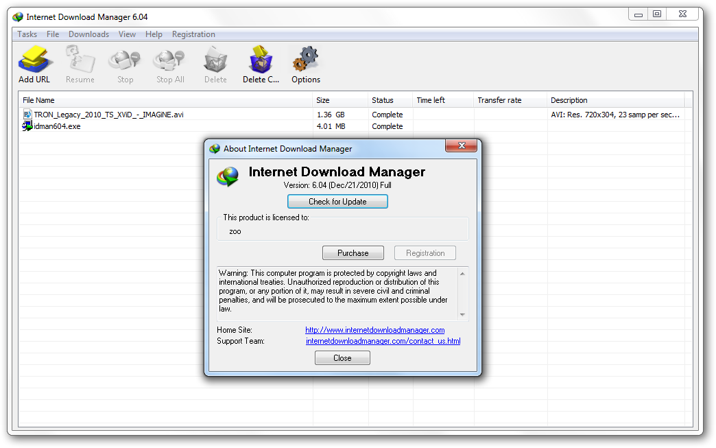 Internet manager v5.19 build 3 incl keygen and patch lz0