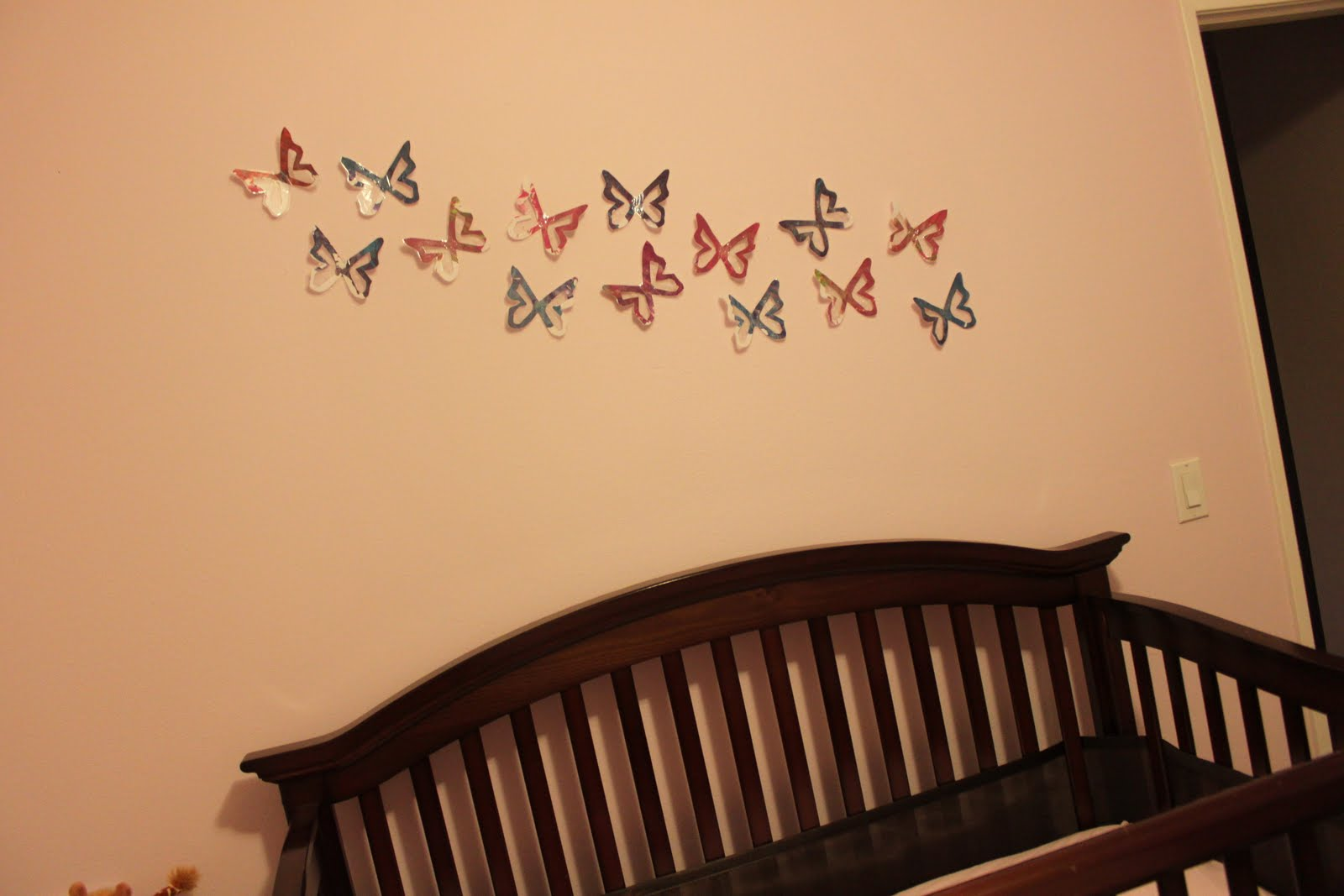 White Butterfly Wall Decor Target : Target inspired butterfly wall decor delicate construction