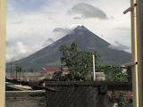 Beautiful scenery of mayon volcano
