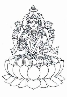 Goddess Lakshmi Cartoon