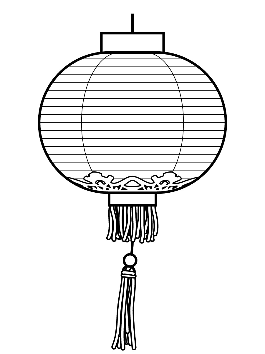 Free Lantern Coloring Pages Chinese New Year