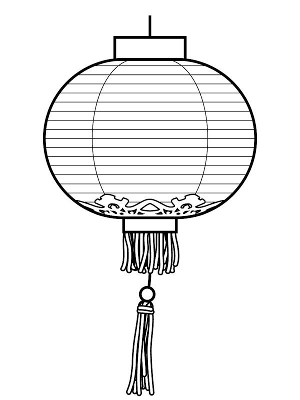 Chinese New Year Lantern Coloring Pages, Lantern Printables title=