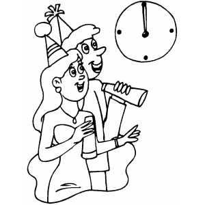 New Year Celebration Coloring Pages