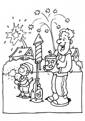coloring pages of new years eve