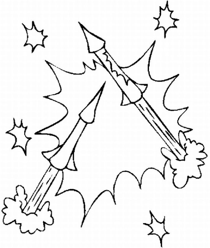 New Year Fireworks Coloring Pages title=