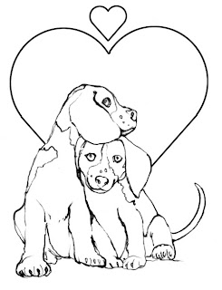 Puppy Valentine Coloring Pages