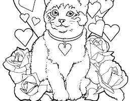 Cat Coloring Pages To Print For Kids