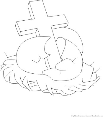 Easter Coloring Pages on Easter Coloring Pages  Easter Cross Coloring Pages  Cross With Lilies