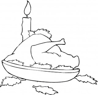 Thanksgiving Turkey Food Coloring Page