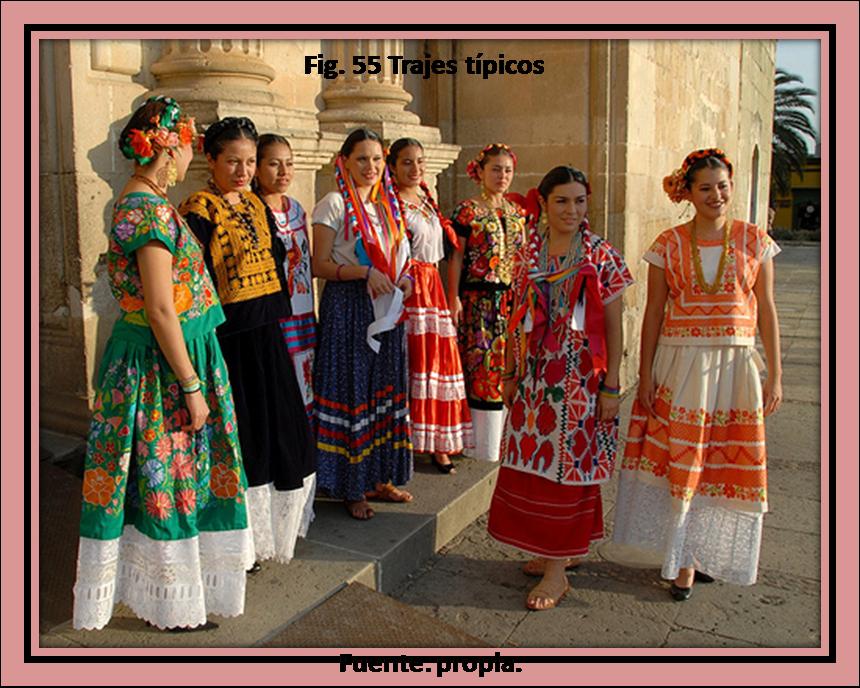 Oaxaca es un estado muy rico en trajes típicos ya que todo el estado trae una vestimenta diferente, especialmente porque se dividen en ocho regiones y cada