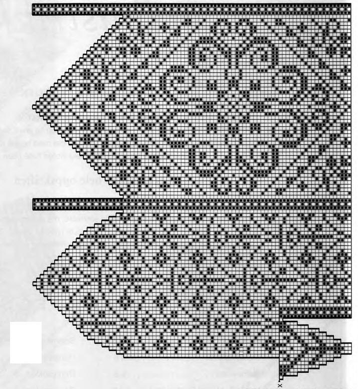 Схема вязания бордюра: