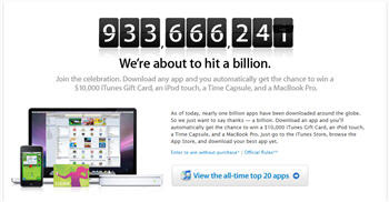 Apple 1 billion downloads