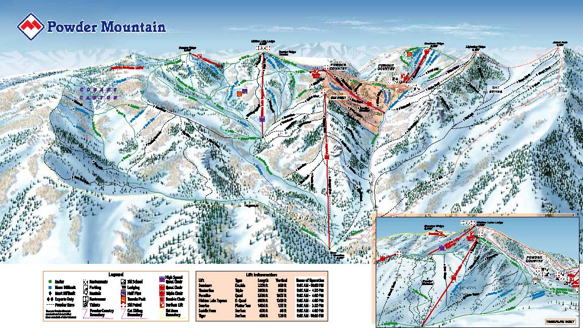 ski resort reviews trail maps