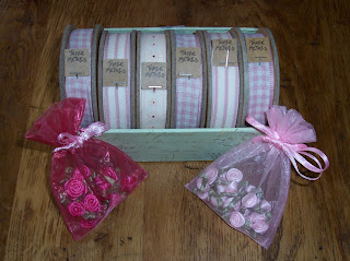 selection of cotton vintage ribbons