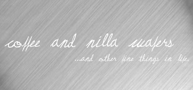 Coffee and Nilla Wafers