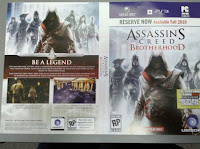 Assassin's Creed: Brotherhood. screen, box, art