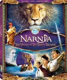 Narnia 3, Voyage of the Dawn Treader, blu-ray, dvd, cover