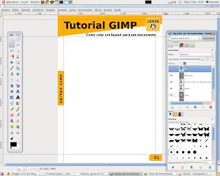 Desenhando um layout no gimp
