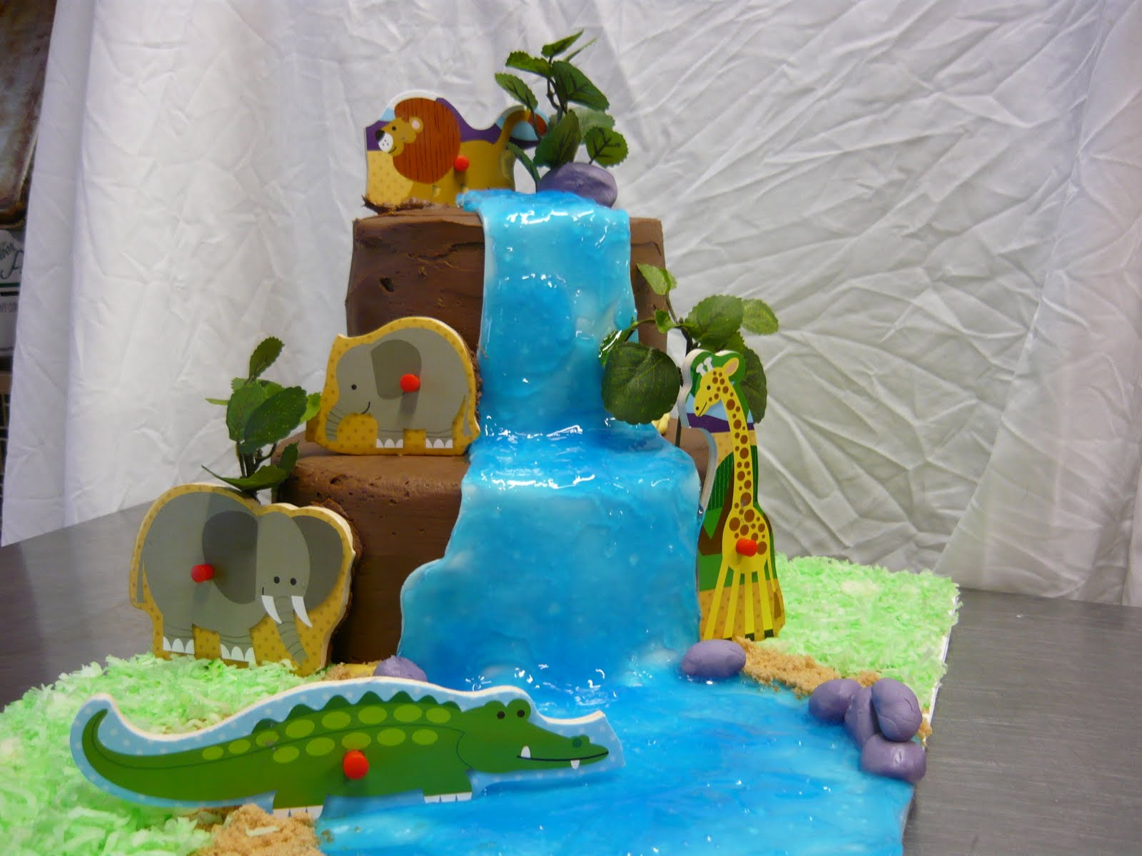 cattycorner cakes safari baby shower cake