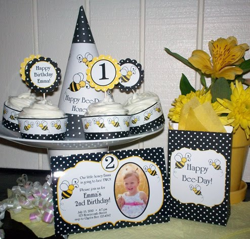 Bumble Bee Birthday Party Collection