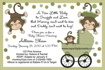 monkey sayings for baby showers