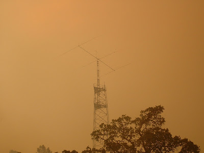 VOA antenna farm during CANYON FIRE