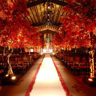 An Outside Wedding Can Be Difficult Because The Weather Is Unpredictable Why Not Bring Outdoors Inside Turn Ceremony Into A Forest Filled With