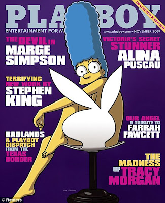Marge Simpson Playboy Pic