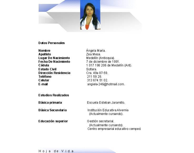 Angela Mi Curriculum Vitae
