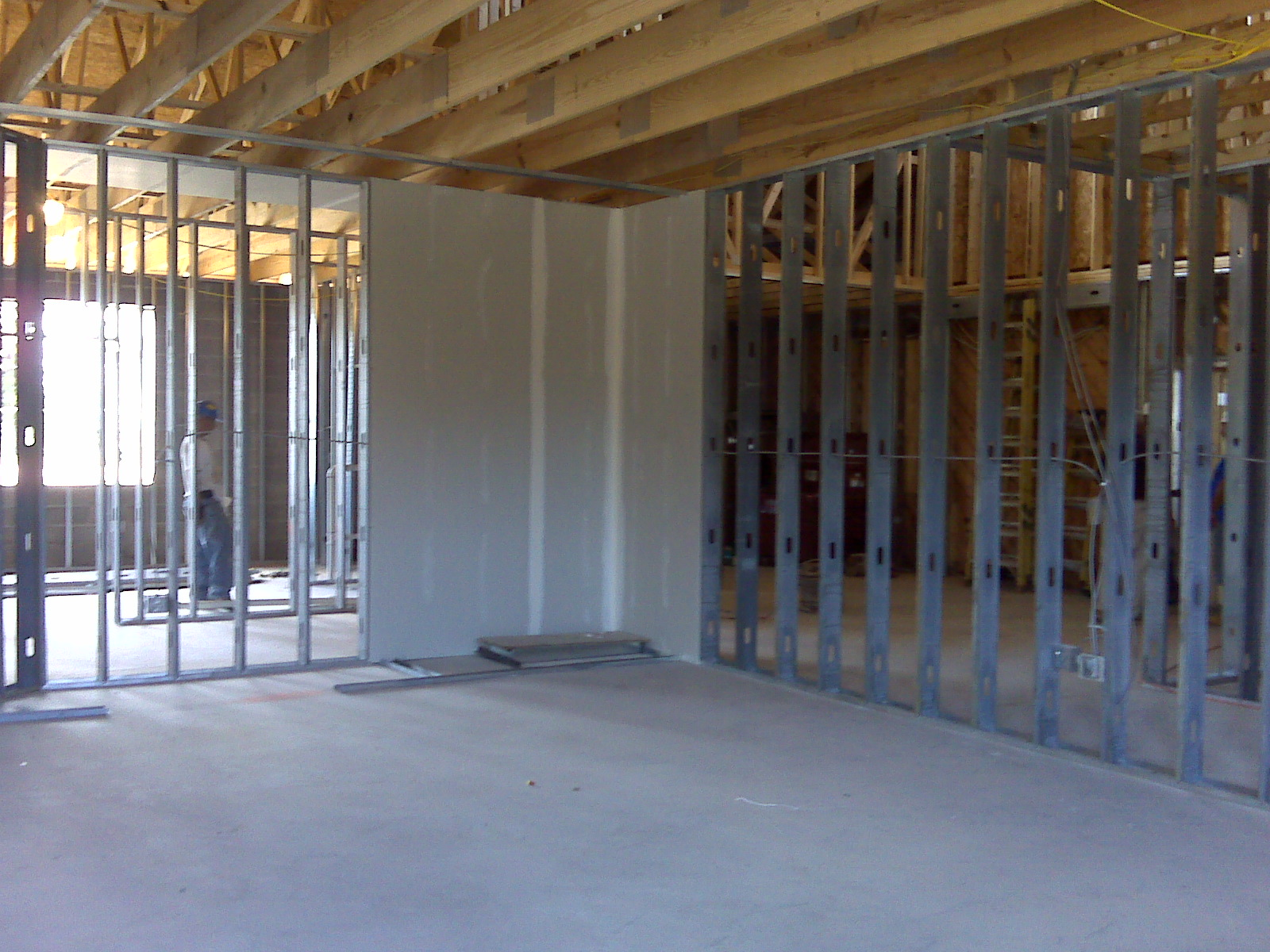 Dry Wall Construction : St john s school rebuild and renovate construction