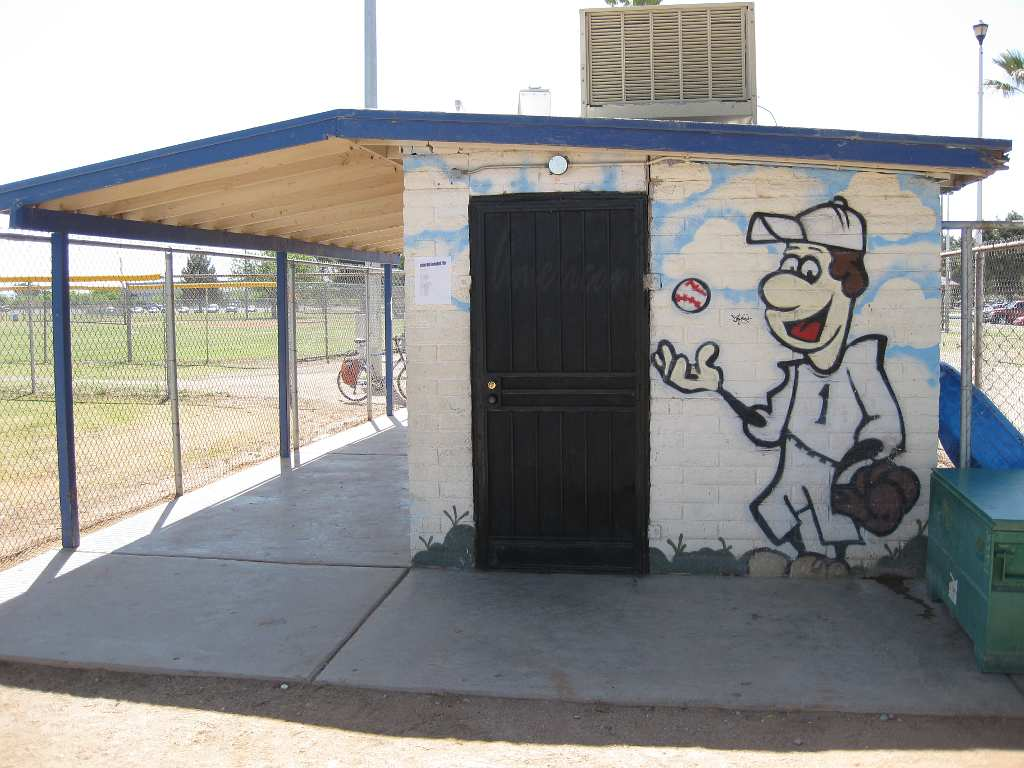 The tucson murals project baseball murals at rudy garcia park for Baseball field mural