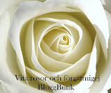Vita rosor och förgätmigej