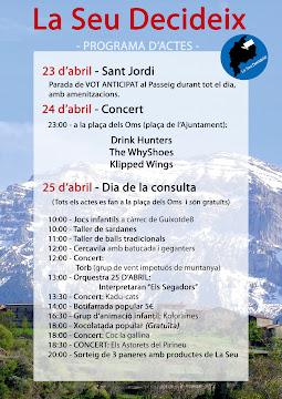Programa d'actes 23,24 i 25 d'abril