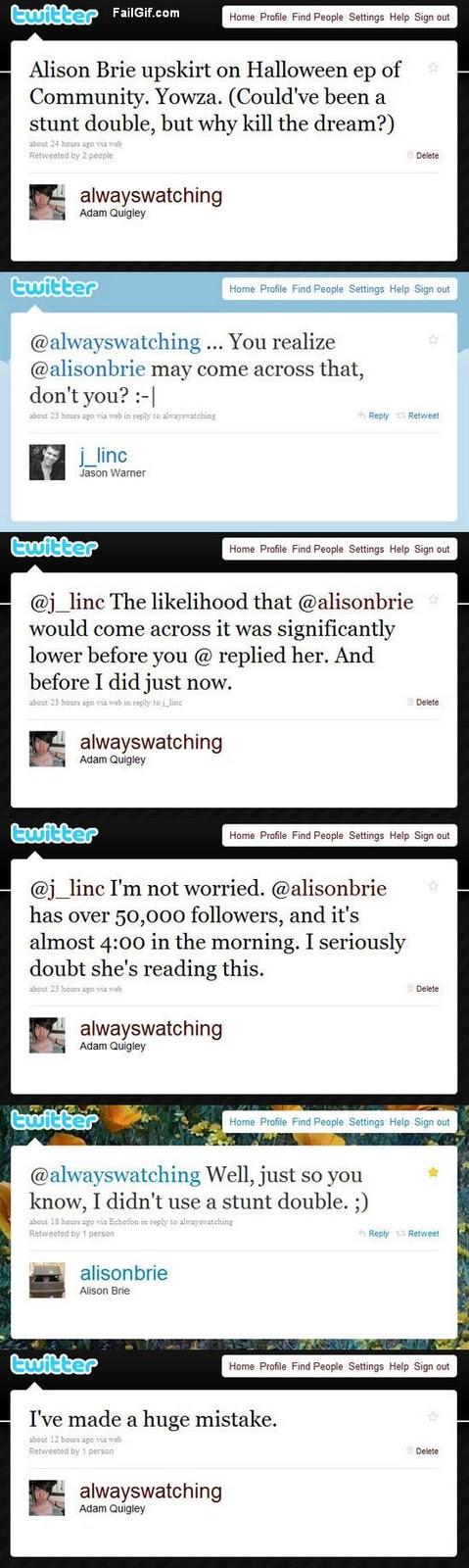 alison brie twitter pics. alison brie twitter. alison