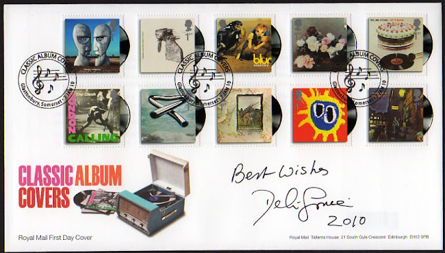 Classic Album Covers FDC signed by Delia Smith.