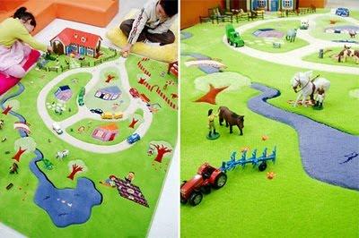 Gyerekszoba lakberendezési ötletek: különleges szőnyeg  Inspirációk Csorba Anitától