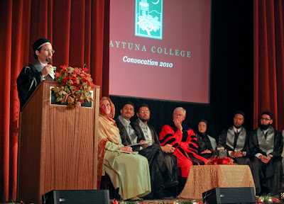 Photo Credit: Christina Hernandez - 'Sheikh Hamza Yusuf addresses the inaugural class at Zaytuna College'