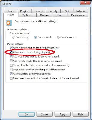 Non Aktifkan Screen Saver Saat Memutar Video