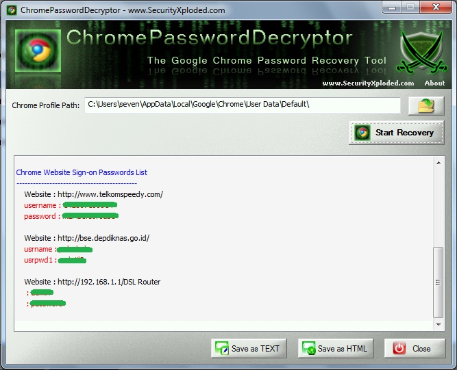 WebBrowserPassView - freeware utilities: password recovery ...