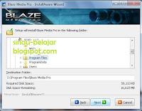 Instal Converter Blaze Media Pro 9.0