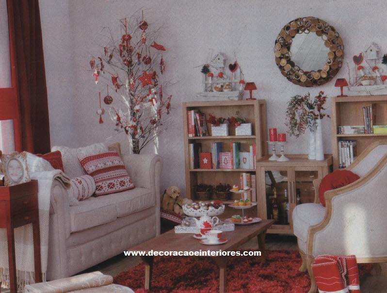 decoracao de natal para interiores de casas : decoracao de natal para interiores de casas:11 Ideias para decorar casa no Natal
